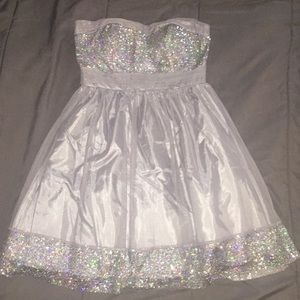 Strapless Sequin Homecoming/Prom Dress